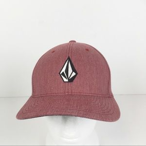 NWOT Volcom Full Stone Red Heather XFit Hat